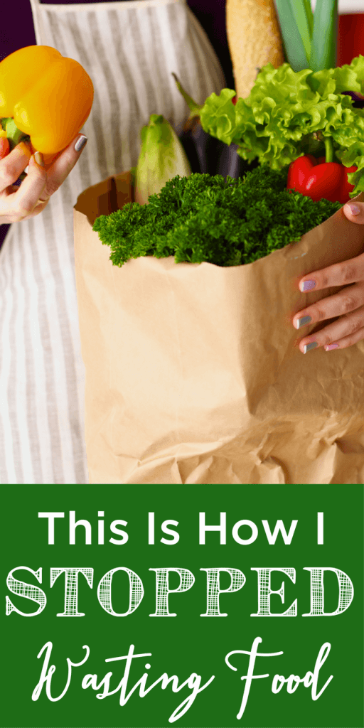Before you know it, wasting food becomes a habit. But it's easier to stop wasting food than you may think. Here's how I did it! www.themidlifemamas.com