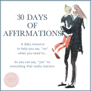 This is the best set of affirmations for women who want to do less that I've ever seen - and they are beautiful too!